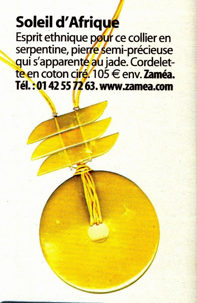 article Femme actuelle - bijoux ZAMEA