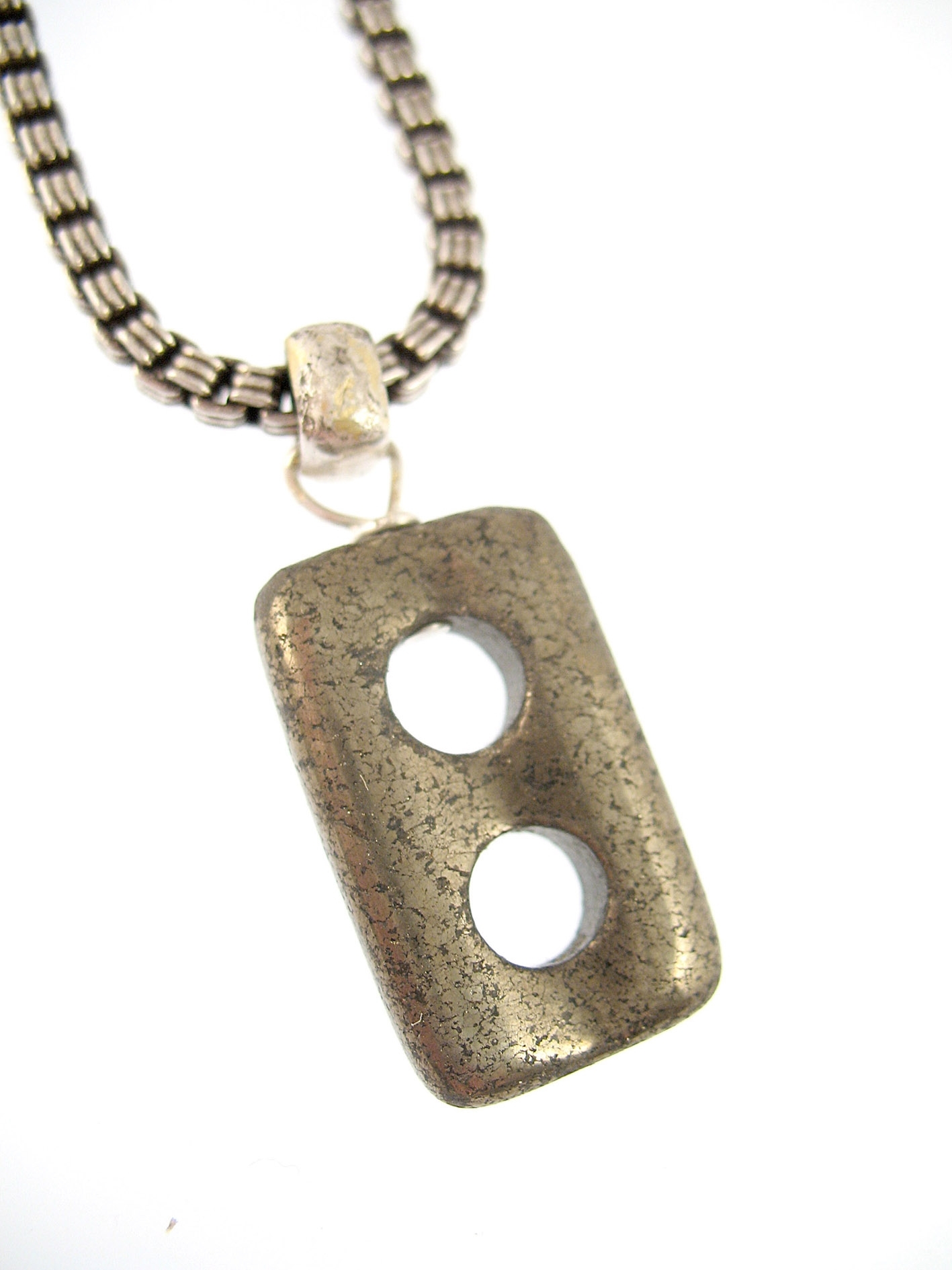 Collier Homme Pyrite