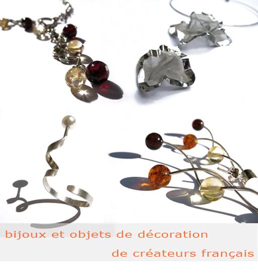 Bijoux et objets de décoration de créateurs français