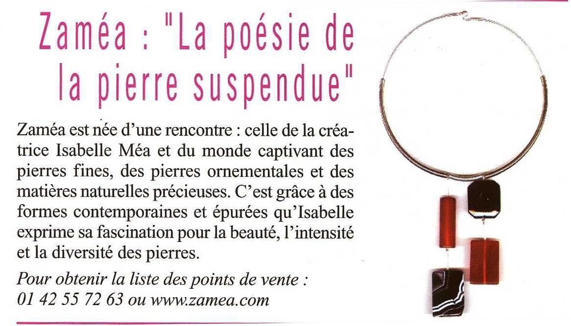 article Version Fémina - bijoux ZAMEA